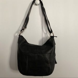 Tiganello Black Leather Convertible Bag